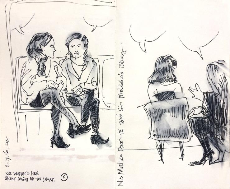 Subway drawing, bar drawing