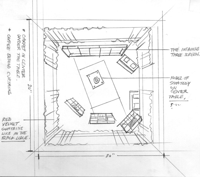 map of a room; interior design