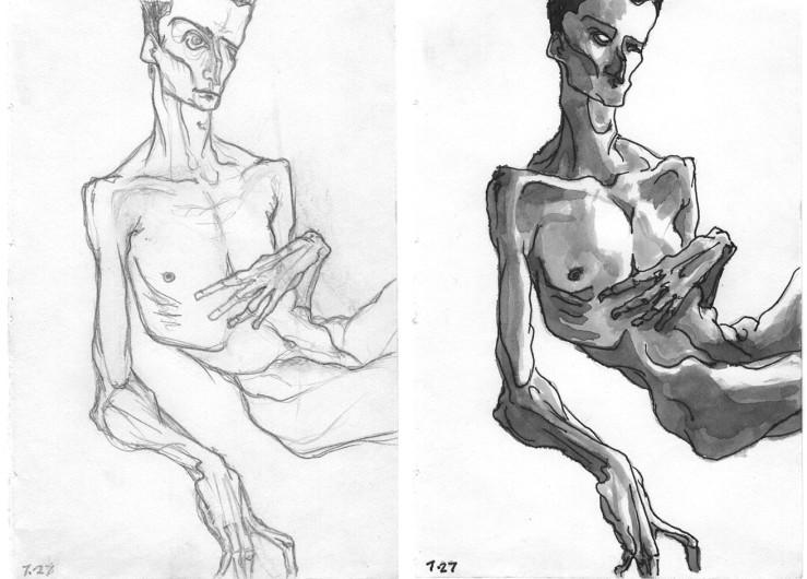two portrait studies