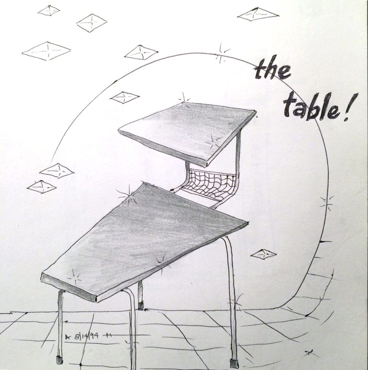 drawing of a table