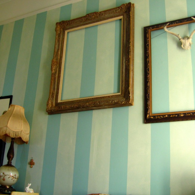 Interior striped wall