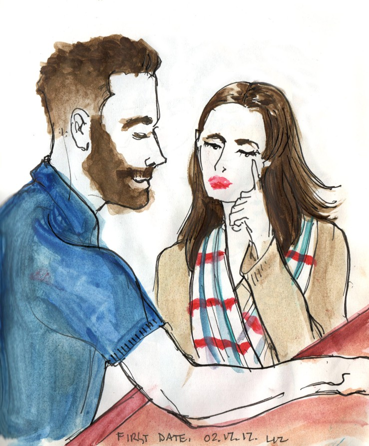 Watercolor observation: first date