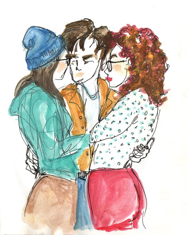 Watercolor:threesome