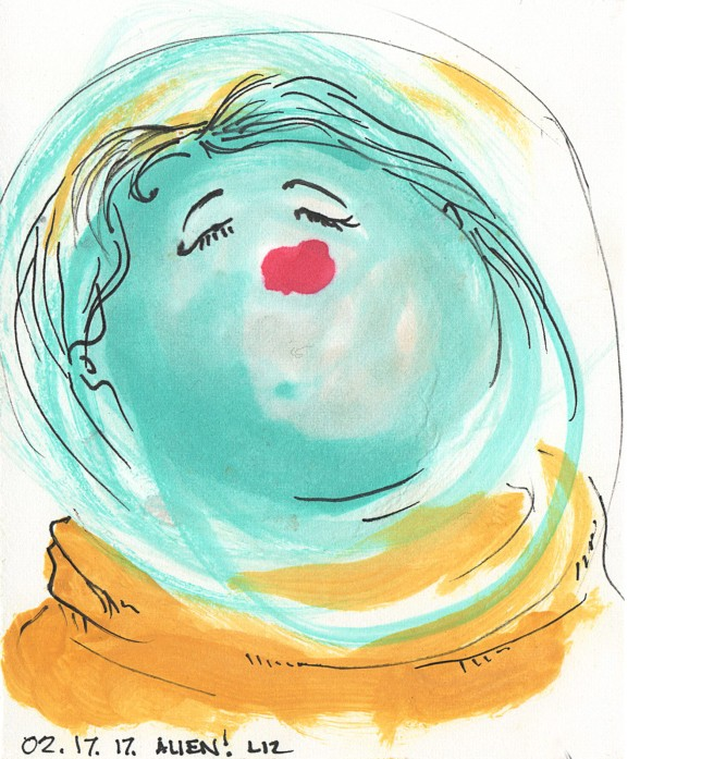 watercolor: alien