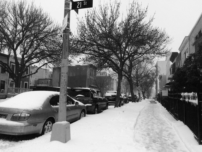 Brooklyn in snow