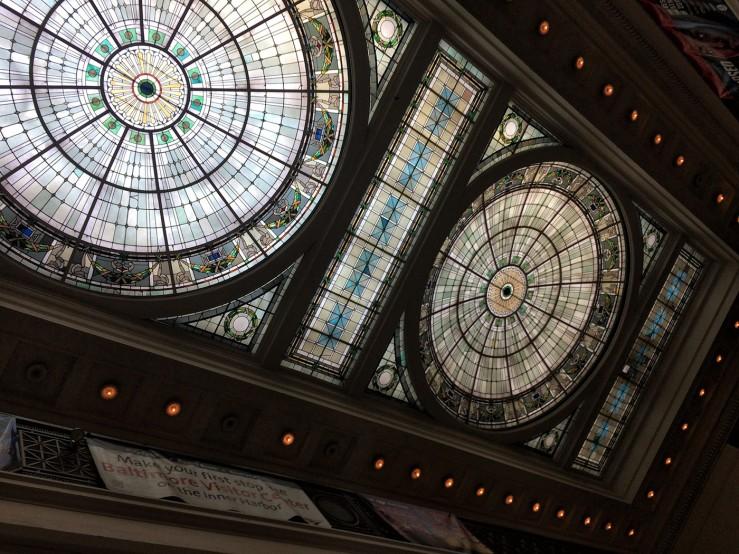Ceiling of Penn Station Baltimore