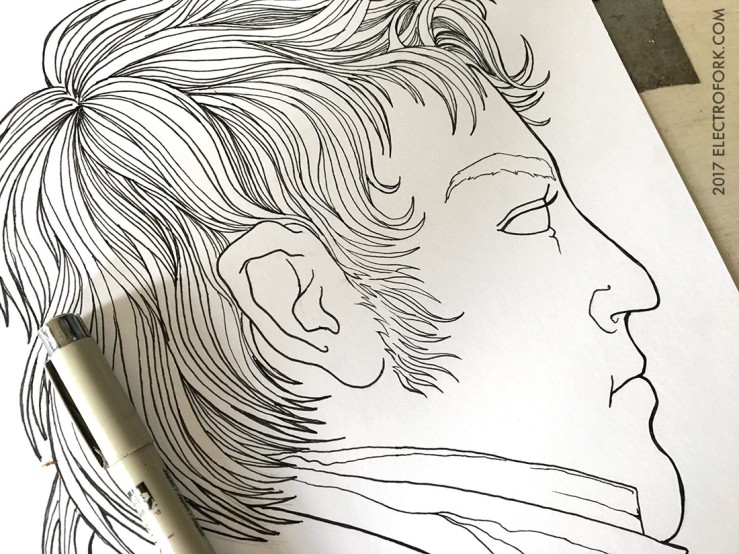 ink drawing portrait of a man