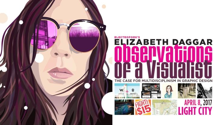 Title slide for ELizabeth Daggar visiting artist talk at Light City for UMBC