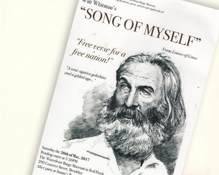 Walt Whitman reading on Red Hook barge