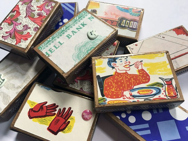 decorated matchboxes