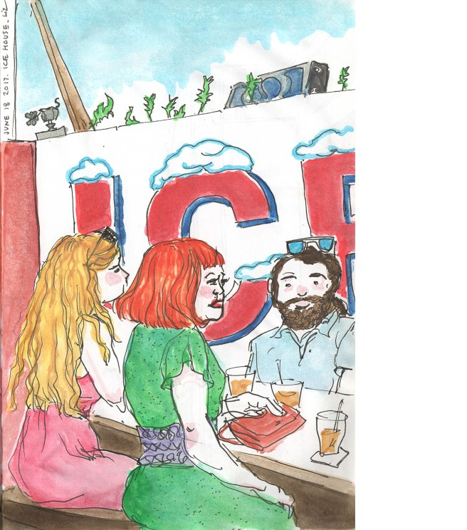 sketch of people at Ice House