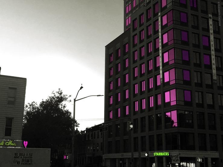 photo colorization of windows by Elizabeth Daggar