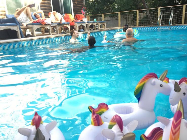 Fire Island Pines pool