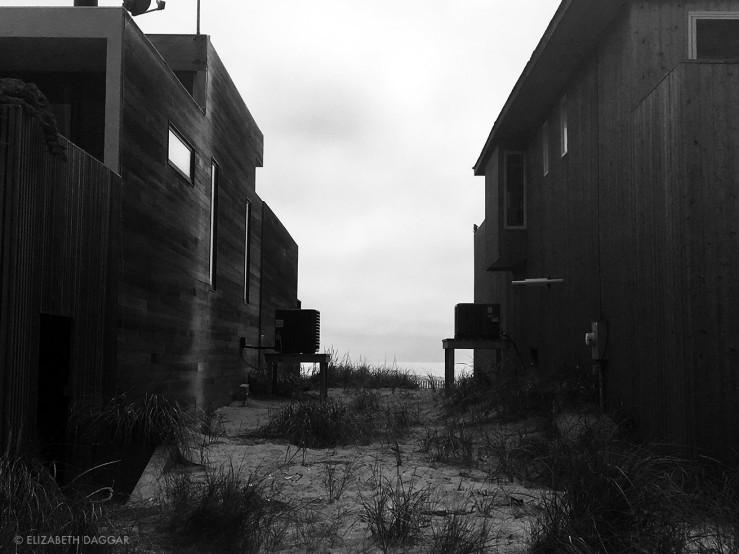 Facing stoic beach houses