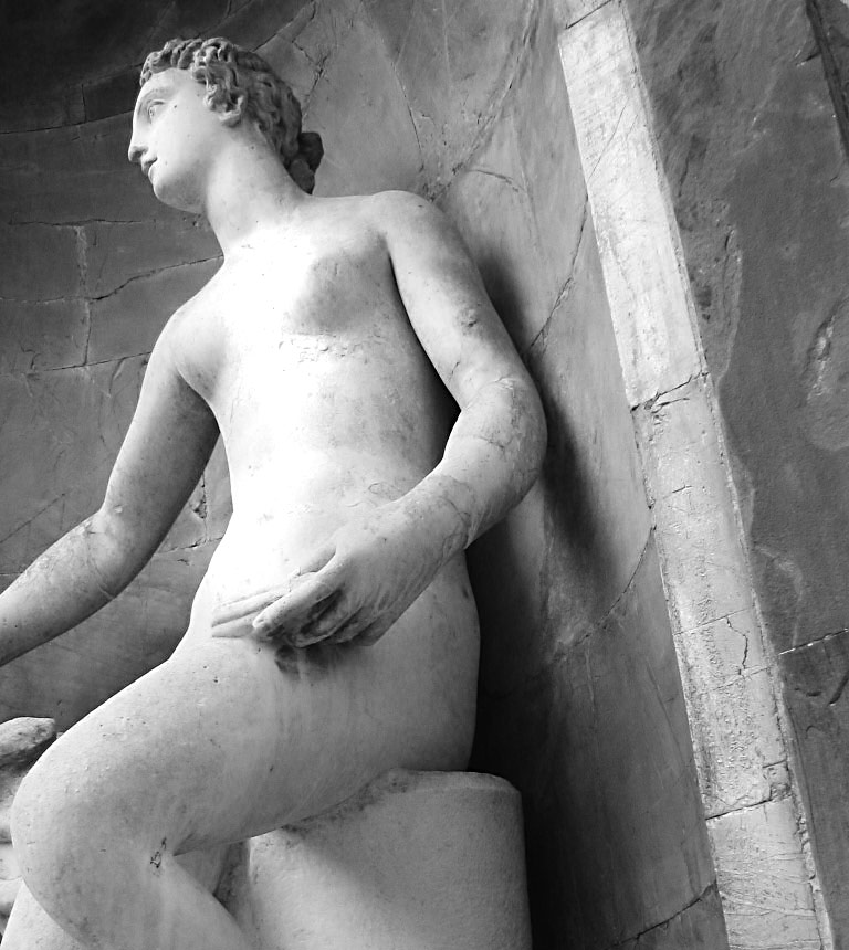 A sculpture in Florence