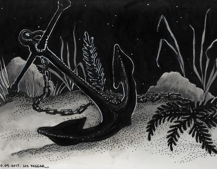 Anchor (ink drawing)