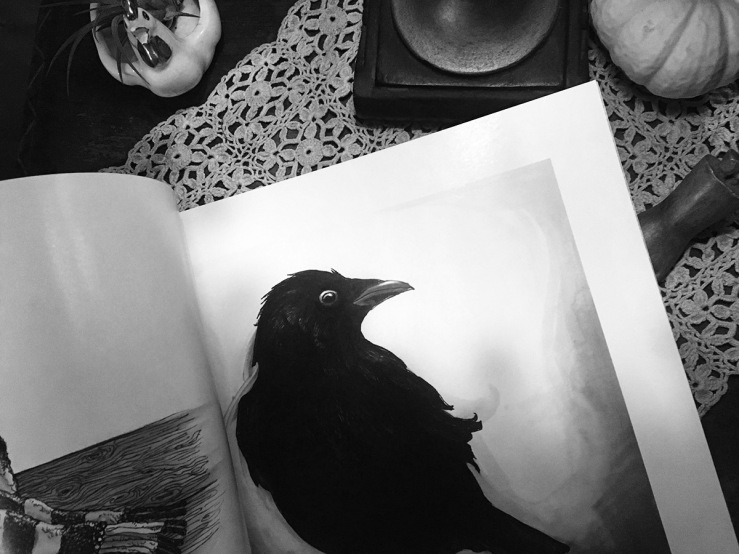 Photo of the Inktober book,crow