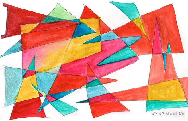 abstract geometric watercolor composition , another