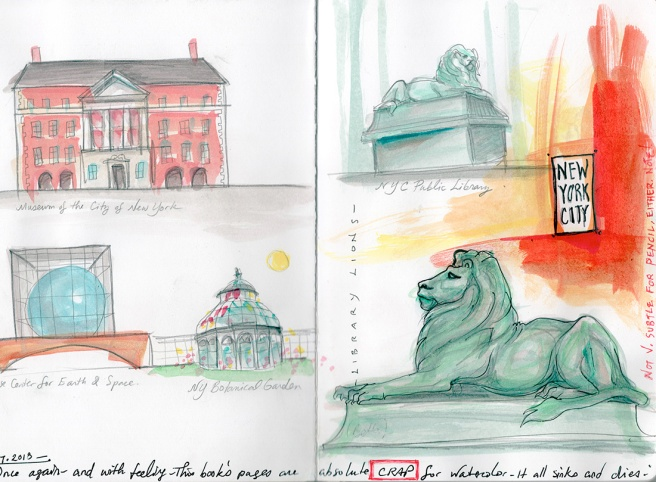 watercolors of NYC icons
