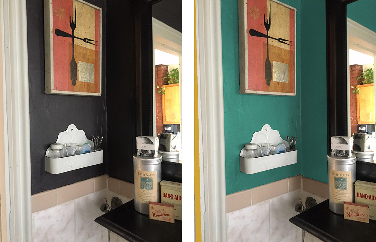 before and after bathroom color