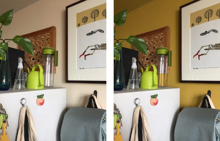 before and after kitchen color