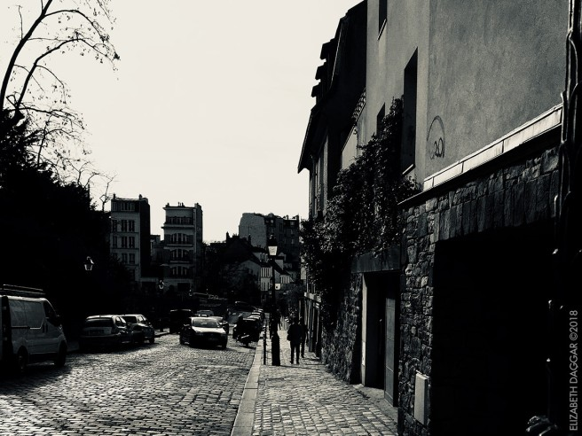 streets of Montmartre, photos in black and white