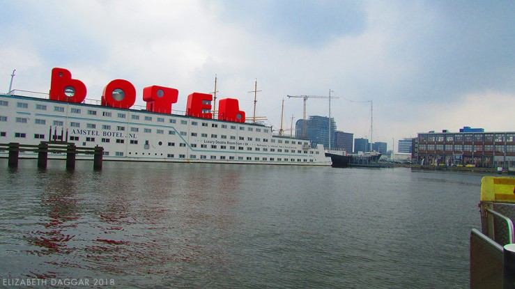 Color photo of the Botel