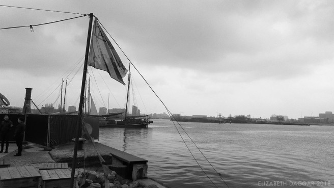B&W photo on the farther shore, Amsterdam Noord
