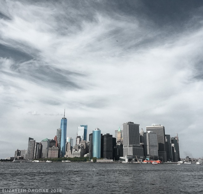 lower Manhattan as viewed from Governors Island