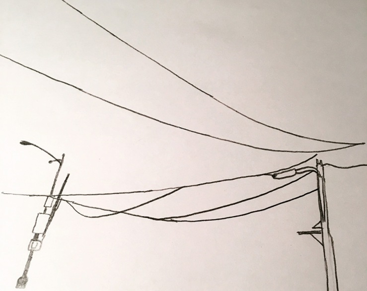 drawing of electrical wires