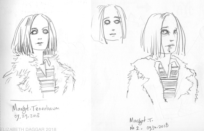 sketches of Margot Tenenbaum