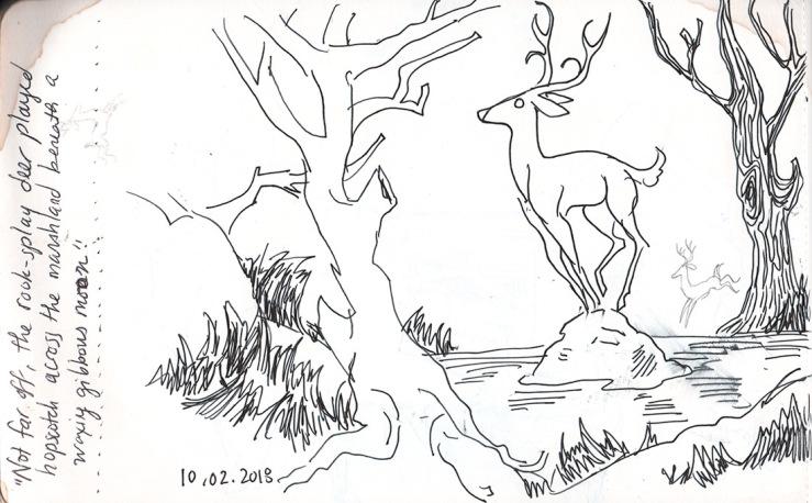 inktober: quick sketch of same deer