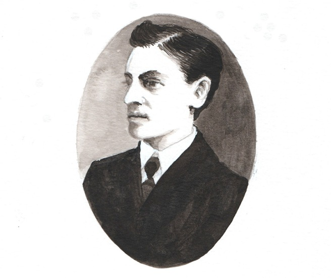drawing of a well-dressed gentleman