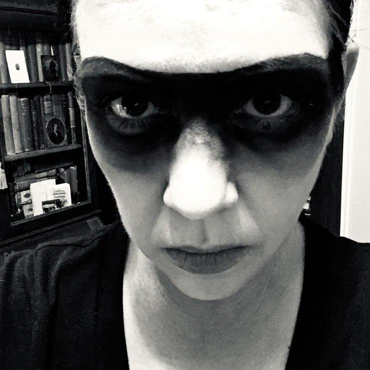 photo of me in bandit makeup for halloween