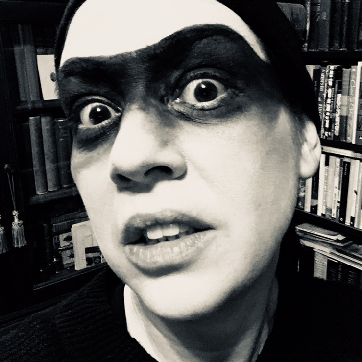 selfie of me in my bandit make-up
