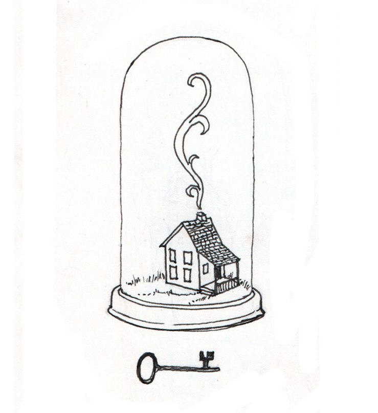 cleaned-up ink version of house drawing
