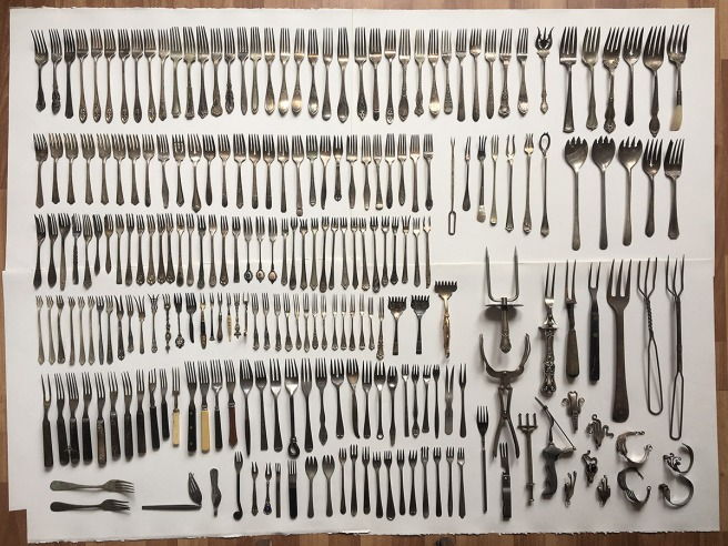 photo of almost 200 forks, most of my collection