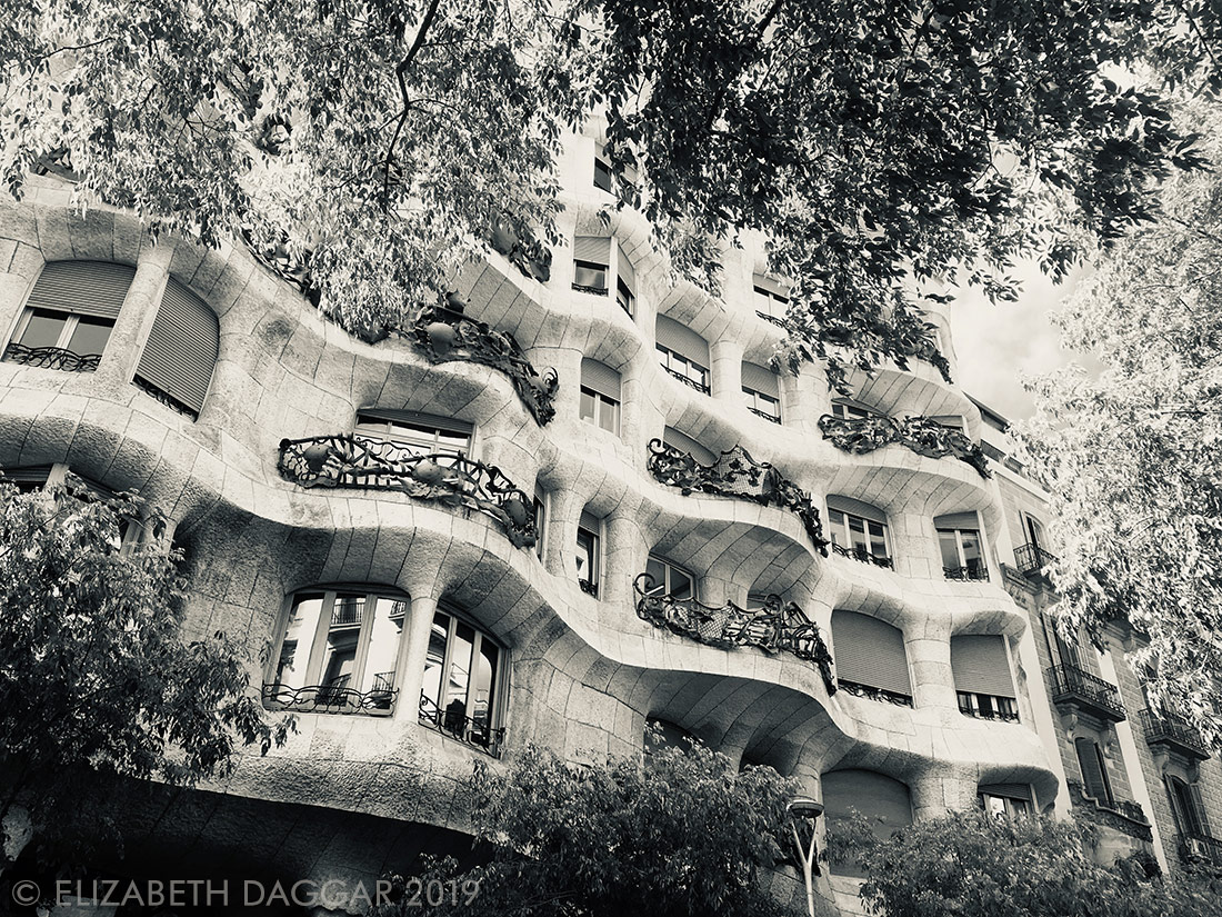 Façade of Casa Mila, also by Gaudi
