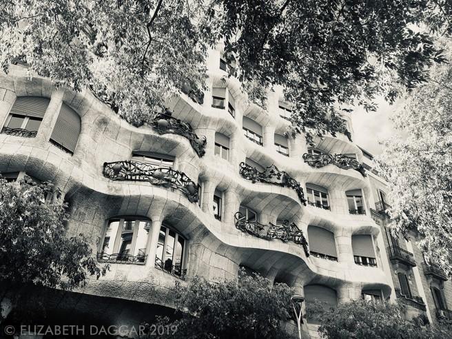 Façade of Casa Mila, also by Gaudi